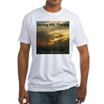 Spring Hill Fire in the Sky Fitted T-Shirt