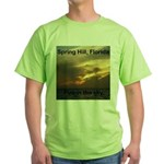 Spring Hill Fire in the Sky Green T-Shirt