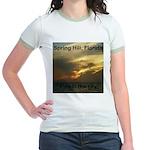 Spring Hill Fire in the Sky Jr. Ringer T-Shirt