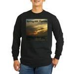 Spring Hill Fire in the Sky Long Sleeve Dark T-Shi