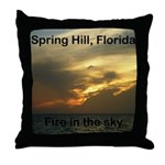 Spring Hill Fire in the Sky Throw Pillow