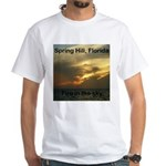 Spring Hill Fire in the Sky White T-Shirt