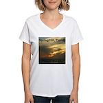 Spring Hill Fire in the Sky Women's V-Neck T-Shirt