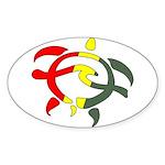Honu Surf Oval Sticker