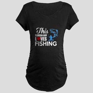 This Florida Guy Loves Fishing T Maternity T-Shirt