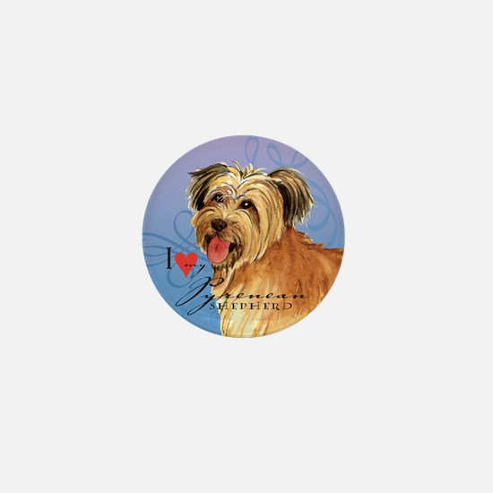 Pyrenean Shepherd Mini Button