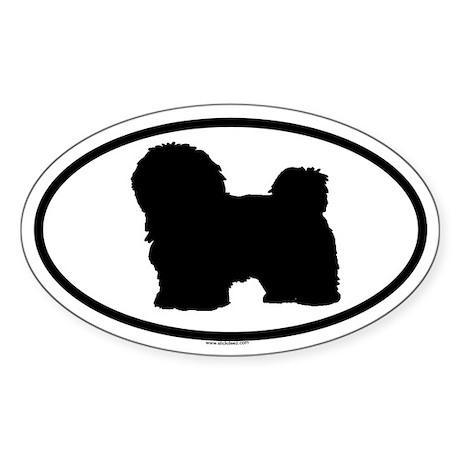 HAVANESE Oval Sticker