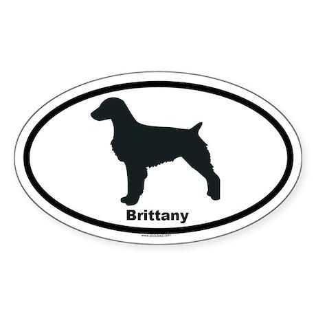 BRITTANY Oval Sticker