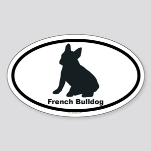 FRENCH BULLDOG Oval Sticker