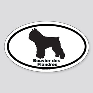 BOUVIER DES FLANDRES Oval Sticker