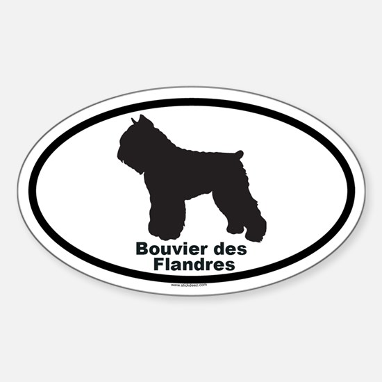 BOUVIER DES FLANDRES Oval Decal