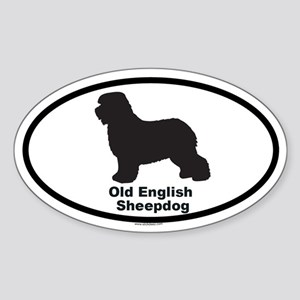 OLD ENGLISH SHEEPDOG Oval Sticker