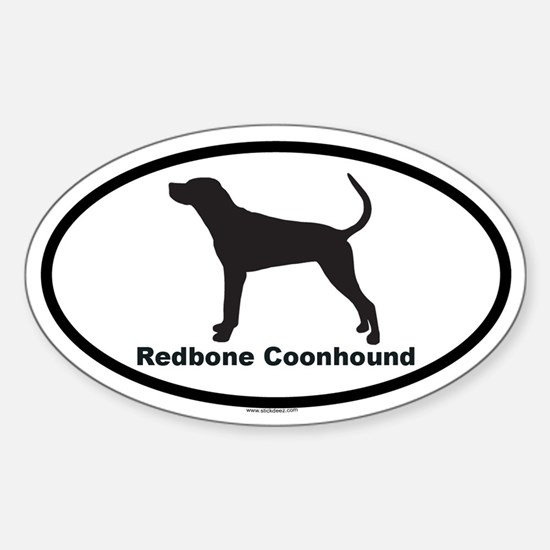 REDBONE COONHOUND Oval Decal