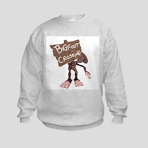 Bigfoot Crossing Kids Sweatshirt