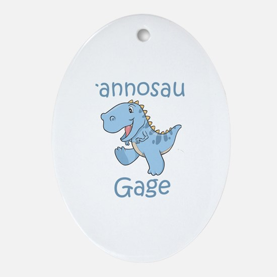 Tyrannosaurus Gage Oval Ornament