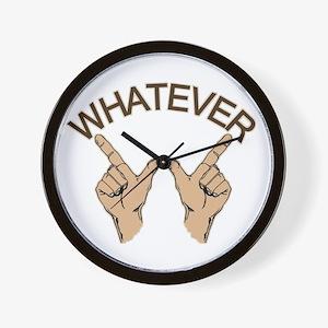 Whatever Hand Gesture Wall Clock