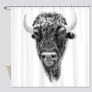 Buffalo, American Bison Spirit Anim Shower Curtain