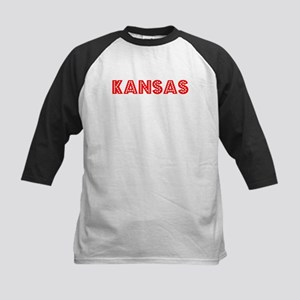 Retro Kansas (Red) Kids Baseball Jersey