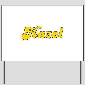 Retro Hazel (Gold) Yard Sign