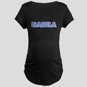 Retro Isabela (Blue) Maternity Dark T-Shirt