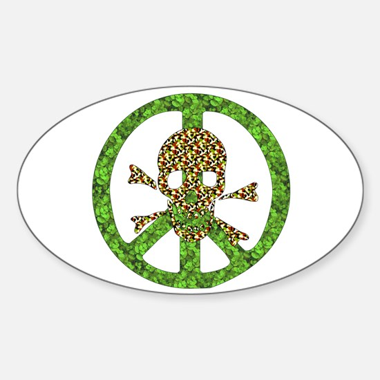 Nature Peace Skull Oval Decal