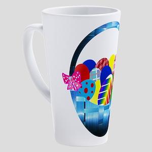 Assorted Rainbow Easter Eggs in Ba 17 oz Latte Mug