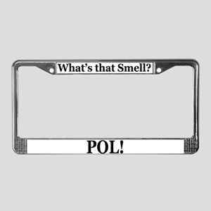POL What's That Smell? License Plate Frame