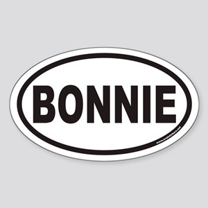 BONNIE Euro Oval Sticker