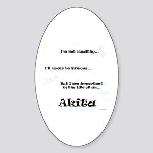 Akita Life Oval Sticker