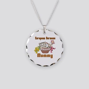 European Burmese Cats Mummy Necklace Circle Charm