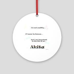 Akita Life Ornament (Round)