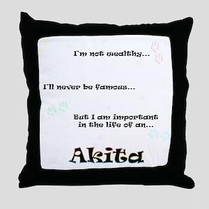 Akita Life Throw Pillow