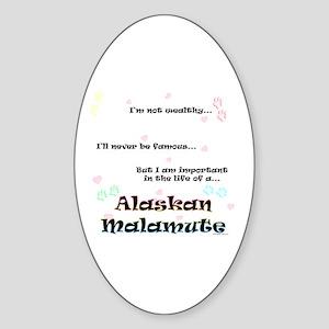Malamute Life Oval Sticker