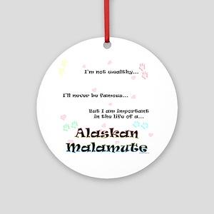 Malamute Life Ornament (Round)