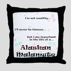 Malamute Life Throw Pillow