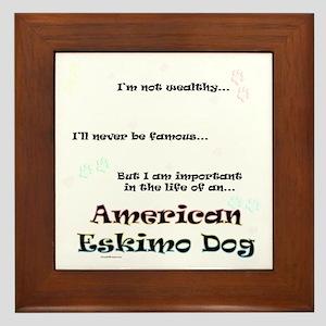 Eskimo Dog Life Framed Tile