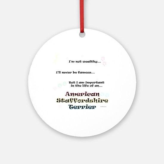 AmStaff Life Ornament (Round)