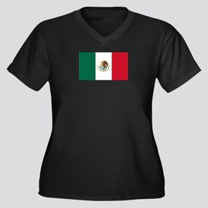 Mexico Country Latino Women's Plus Size V-Neck Dar