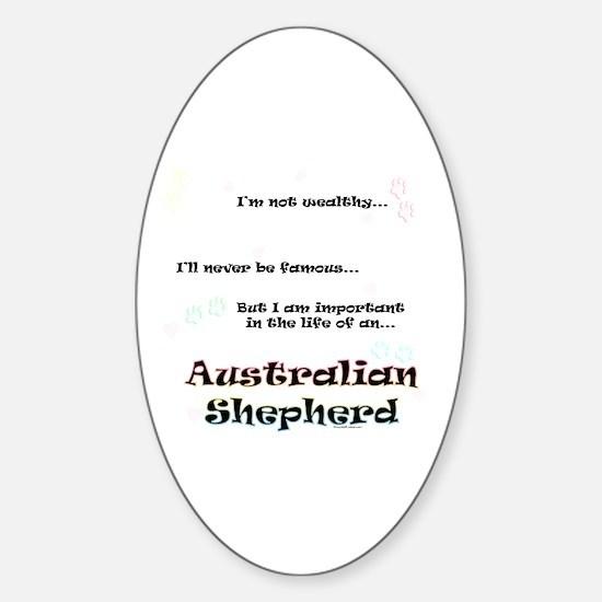 Aussie Shepherd Life Oval Decal