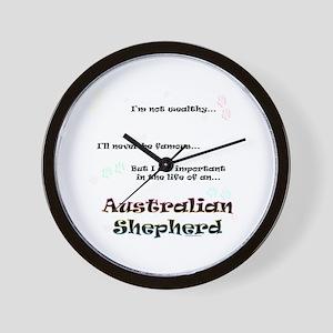 Aussie Shepherd Life Wall Clock