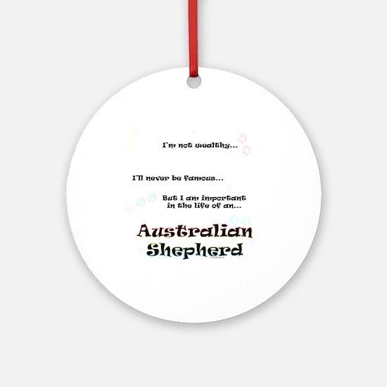 Aussie Shepherd Life Ornament (Round)