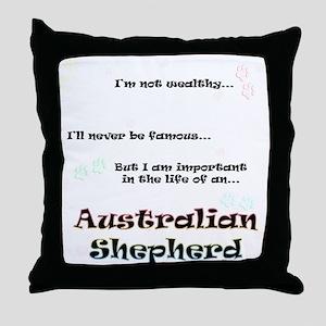 Aussie Shepherd Life Throw Pillow