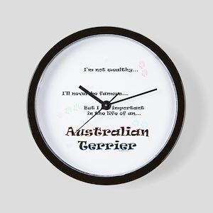 Aussie Terrier Life Wall Clock