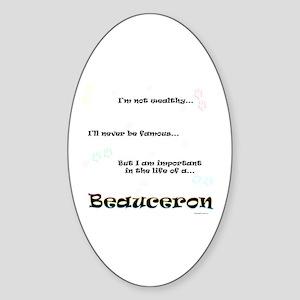 Beauceron Life Oval Sticker