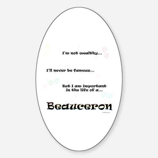 Beauceron Life Oval Decal
