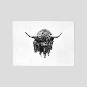 Wee Hamish The Scottish Highland Co 5'x7'Area Rug