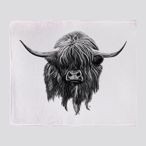 Wee Hamish The Scottish Highland Cow Throw Blanket