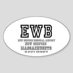 AIRPORT CODES - EWB - NEW BEDFORD, MASSACH Sticker