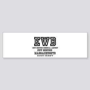 AIRPORT CODES - EWB - NEW BEDFORD, Bumper Sticker