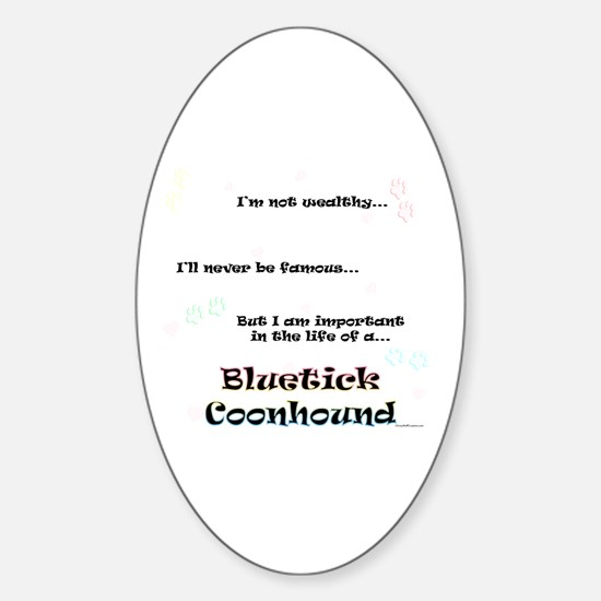 Bluetick Life Oval Decal